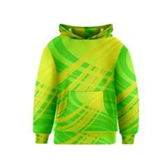 Abstract Green Yellow Background Kids  Pullover Hoodie