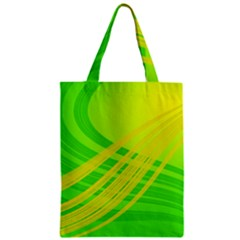 Abstract Green Yellow Background Zipper Classic Tote Bag