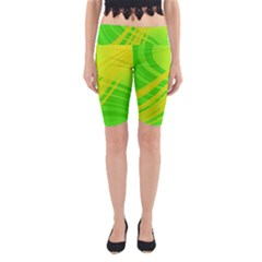 Abstract Green Yellow Background Yoga Cropped Leggings
