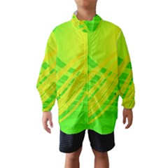 Abstract Green Yellow Background Wind Breaker (kids)