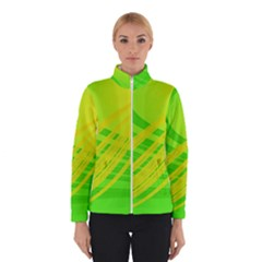 Abstract Green Yellow Background Winterwear