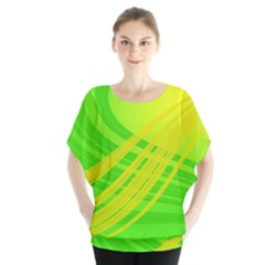 Abstract Green Yellow Background Blouse