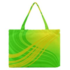 Abstract Green Yellow Background Medium Zipper Tote Bag