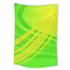 Abstract Green Yellow Background Large Tapestry