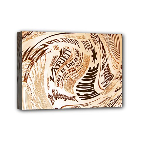 Abstract Newspaper Background Mini Canvas 7  x 5