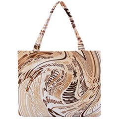 Abstract Newspaper Background Mini Tote Bag