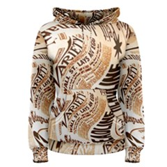 Abstract Newspaper Background Women s Pullover Hoodie