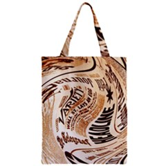 Abstract Newspaper Background Zipper Classic Tote Bag