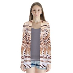 Abstract Newspaper Background Cardigans