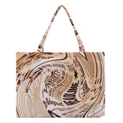 Abstract Newspaper Background Medium Tote Bag