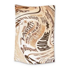 Abstract Newspaper Background Small Tapestry