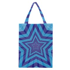 Abstract Starburst Blue Star Classic Tote Bag