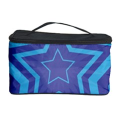 Abstract Starburst Blue Star Cosmetic Storage Case