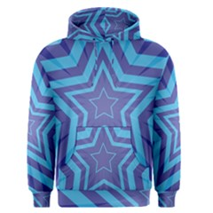 Abstract Starburst Blue Star Men s Pullover Hoodie