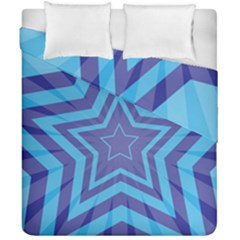 Abstract Starburst Blue Star Duvet Cover Double Side (california King Size)
