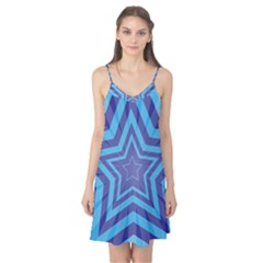 Abstract Starburst Blue Star Camis Nightgown