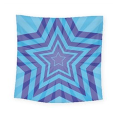 Abstract Starburst Blue Star Square Tapestry (small)