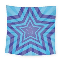 Abstract Starburst Blue Star Square Tapestry (large)