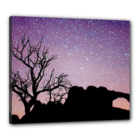 Arches National Park Night Canvas 24  X 20