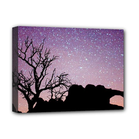Arches National Park Night Deluxe Canvas 16  X 12