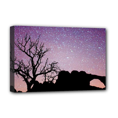Arches National Park Night Deluxe Canvas 18  X 12