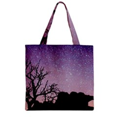 Arches National Park Night Zipper Grocery Tote Bag