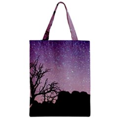 Arches National Park Night Zipper Classic Tote Bag