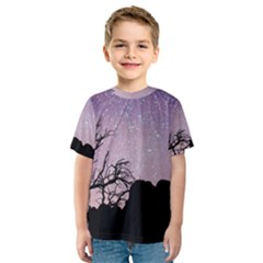 Arches National Park Night Kids  Sport Mesh Tee