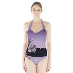 Arches National Park Night Halter Swimsuit