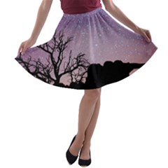 Arches National Park Night A Line Skater Skirt