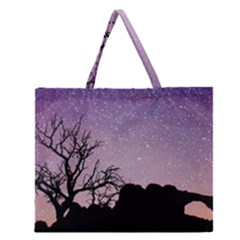 Arches National Park Night Zipper Large Tote Bag