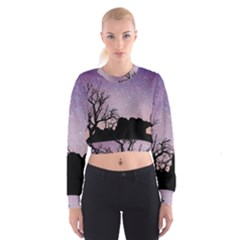 Arches National Park Night Women s Cropped Sweatshirt
