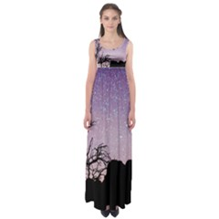 Arches National Park Night Empire Waist Maxi Dress