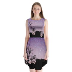 Arches National Park Night Sleeveless Chiffon Dress