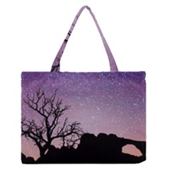 Arches National Park Night Medium Zipper Tote Bag