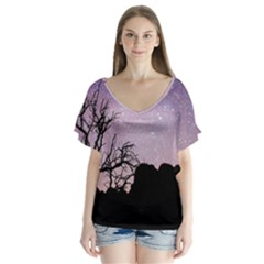 Arches National Park Night Flutter Sleeve Top