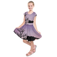 Arches National Park Night Kids  Short Sleeve Dress