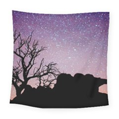 Arches National Park Night Square Tapestry (large)
