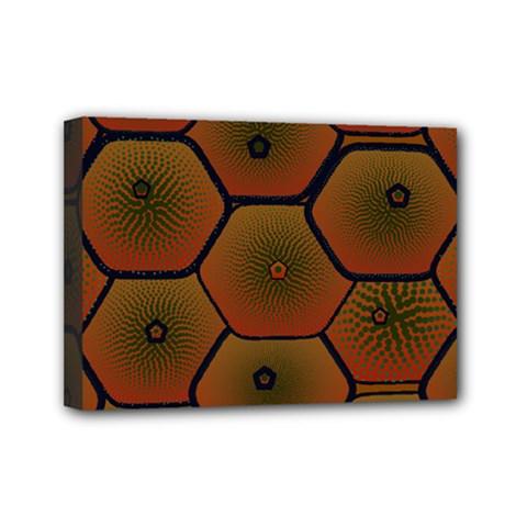 Art Psychedelic Pattern Mini Canvas 7  X 5