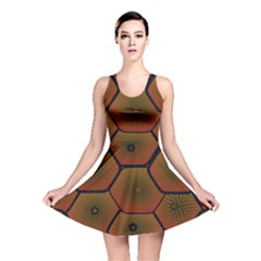 Art Psychedelic Pattern Reversible Skater Dress