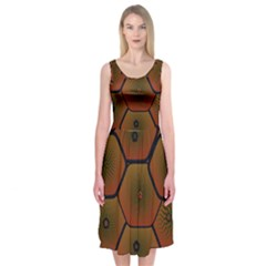 Art Psychedelic Pattern Midi Sleeveless Dress