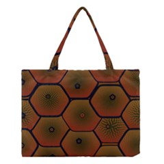 Art Psychedelic Pattern Medium Tote Bag