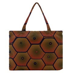 Art Psychedelic Pattern Medium Zipper Tote Bag
