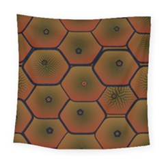Art Psychedelic Pattern Square Tapestry (large)
