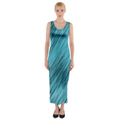 Banner Header Fitted Maxi Dress