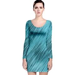 Banner Header Long Sleeve Velvet Bodycon Dress