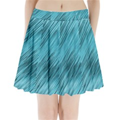 Banner Header Pleated Mini Skirt