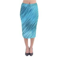 Banner Header Velvet Midi Pencil Skirt