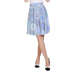 Bee Hive Background A Line Skirt