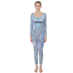 Bee Hive Background Long Sleeve Catsuit
